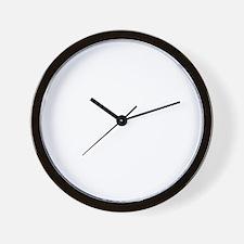 taekwondo(blk) Wall Clock