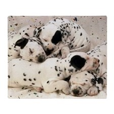Dalmation lg fr print Throw Blanket