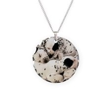 Dalmation sm fr pan print Necklace Circle Charm