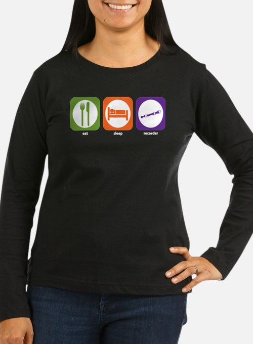Eat Sleep Recorder T-Shirt