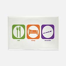 Eat Sleep Recorder Rectangle Magnet