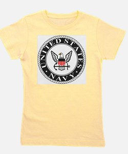 Navy-Logo-Black-White-Red Girl's Tee