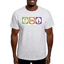 Eat Sleep Saxophone Ash Grey T-Shirt
