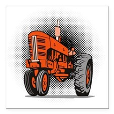 """NX_tractor_front view_wk Square Car Magnet 3"""" x 3"""""""