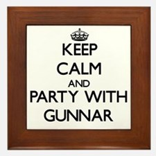 Keep Calm and Party with Gunnar Framed Tile