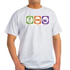 Eat Sleep Drum Ash Grey T-Shirt