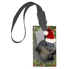 Santa Squirrel Luggage Tag