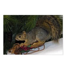 Sledding Squirrel Postcards (Package of 8)