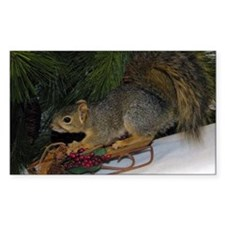 Sledding Squirrel Decal