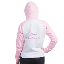 Junior Bridesmaid Pink Women's Raglan Hoodie
