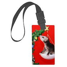 Christmas Tree Opossum Luggage Tag