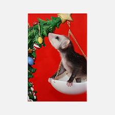 Christmas Tree Opossum Rectangle Magnet