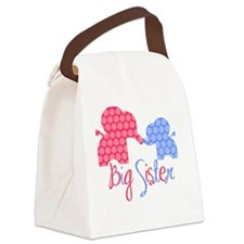 ElephantBigSisterGirlBoy Canvas Lunch Bag