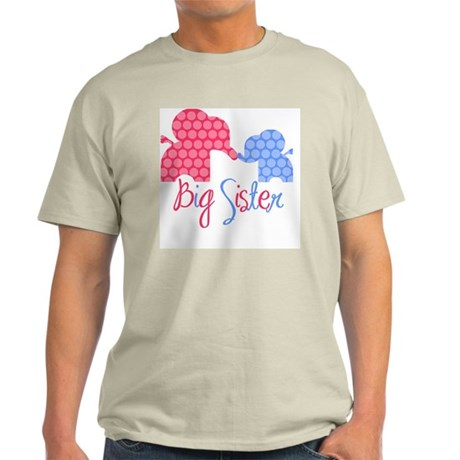 ElephantBigSisterGirlBoy Light T-Shirt