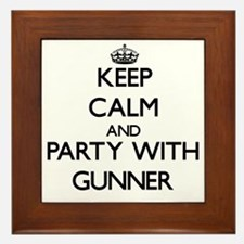 Keep Calm and Party with Gunner Framed Tile