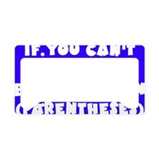 Wright_parentheses_rect2 License Plate Holder