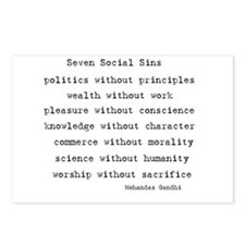 Seven Social Sins Postcards (Package of 8)