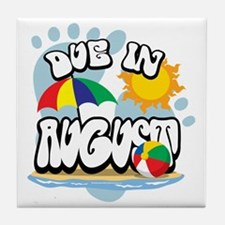 Due-in-August Tile Coaster