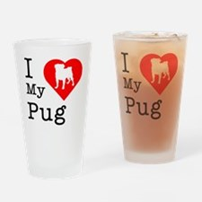 Pug.eps Drinking Glass