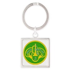 SSI - 3rd Armored Cavalry Regiment Square Keychain