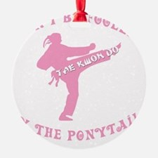old tae kwon do pink(blk) Ornament