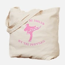 old tae kwon do pink(blk) Tote Bag