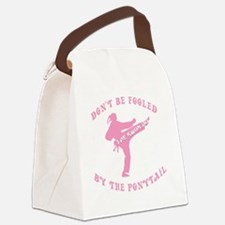 old tae kwon do pink(blk) Canvas Lunch Bag