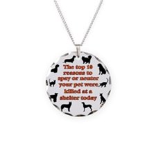 10 reasons to spay_white Necklace