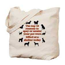 10 reasons to spay_white Tote Bag