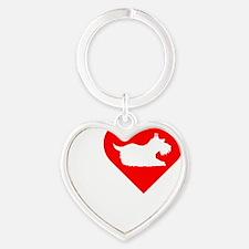 Schnauzer-Dark Heart Keychain