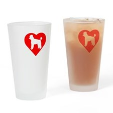 Poodle-Dark Drinking Glass