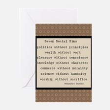 Seven Social Sins Greeting Cards (Pk of 10)