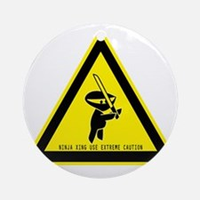 ninjacautionsign Round Ornament