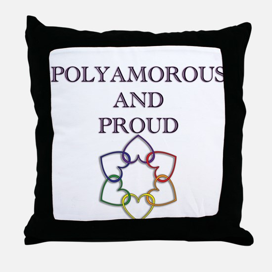 Poly and Proud 2 Throw Pillow
