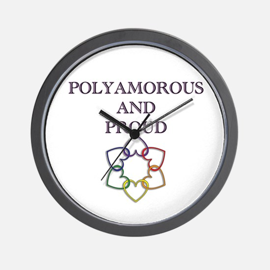 Poly and Proud 2 Wall Clock