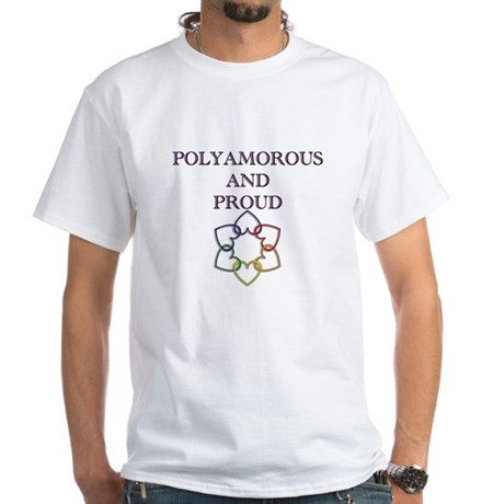 Poly and Proud 2 White T-Shirt