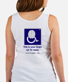 Brain on TV News Women's Tank Top
