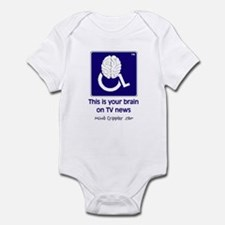 Brain on TV News Infant Bodysuit