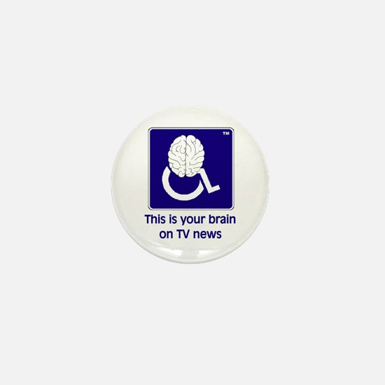 Brain on TV News Mini Button