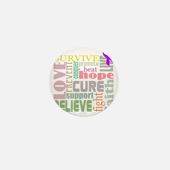alzheimers-wordcollage-light Mini Button