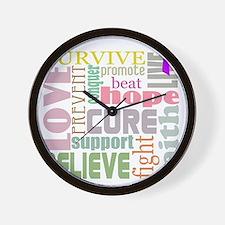 alzheimers-wordcollage-light Wall Clock