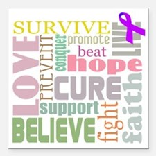 """alzheimers-wordcollage-l Square Car Magnet 3"""" x 3"""""""