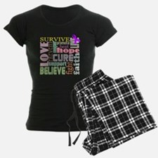 alzheimers-wordcollage-light Pajamas