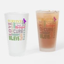 alzheimers-wordcollage-light Drinking Glass