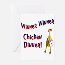 chickendinner1.PNG Greeting Cards