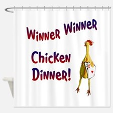 chickendinner1.PNG Shower Curtain
