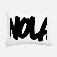NOLA Brushed W Rectangular Canvas Pillow