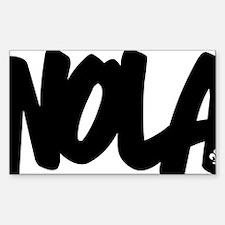 NOLA Brushed W Sticker (Rectangle)