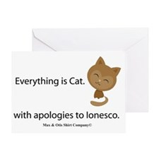 everything-is-cat Greeting Card