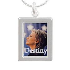 Hillary Destiny Silver Portrait Necklace
